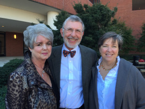 Margaret Clark (left), stands with Dean Kumpuris (center) and his wife Mary (right).